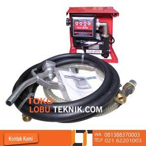 FUEL TRANSFER PUMP FLO RITE DIESEL PUMP SET Model : FR-2260 AC/K Pump rate :15/60 ( GPM/LPM ) Voltage : 230 V Model of Pump : FR-2272C Meter : 800L Model of Nozzel : Manual Selang isap 2 meter Selang buang 4 meter Nozel 1 inchi Diameter pipa 1 inci Penghitung flow meter: 4 digit Akurasi tinggi Tingkat perlindungan: IP55 Casing pompa besi cor,tahan terhadap korosi Pompa baling-baling dengan rotor sintered dan pisau resin acetalic