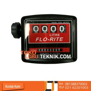Jual FLOWMETER Solar FLO RITE Series terlengkap FLO RITE SERIES 800 L Model : 800L Size : 1 inch Flow Rate : 20 - 120 L/min Accuraty : ± 1 % Totalizer : 99999966 L Max Operating Presure : 50 PSI Max Operating Temperature : 60 °C * Large easy to read numbers * Quick reset knob * Vertical or horizontal positioning * Easy field calibration