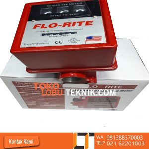 JUAL FLOW METER FLO-RITE MURAH DI JAKARTA JUAL FLOW METER FLO-RITE Model : 888L Size : 1 inch Flow Rate : 19 - 76 L/min Accuraty : ± 2 % Totalizer : 999999 L Max Operating Presure : 50 PSI Max Operating Temperature : 60 °C