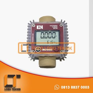 Jual flow meter digital type K24 for water or diesel oil